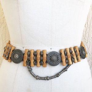 Boho Babe Festival Style Metal Bamboo Chain Belt!